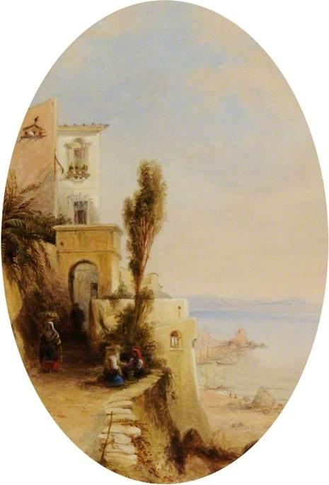 En el lago de Como, Italia de George Edwards Hering (1805-1879, United Kingdom)