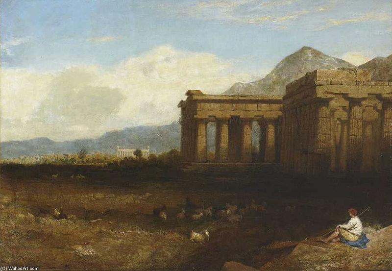 Paestum de George Edwards Hering (1805-1879, United Kingdom)
