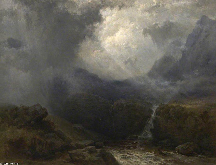 Grieta en la oscuridad de George Edwards Hering (1805-1879, United Kingdom)