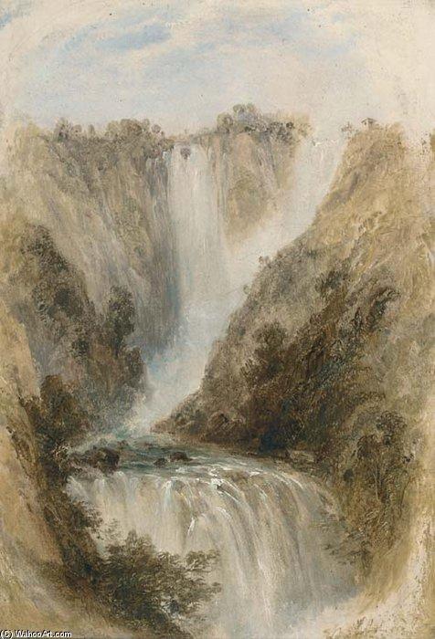 Las Cataratas de Terni de George Edwards Hering (1805-1879, United Kingdom)