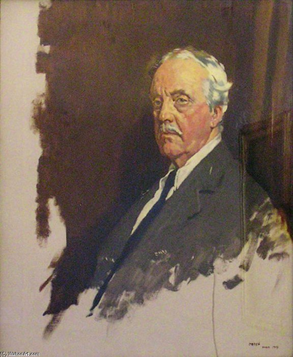 Arturo james balfour de William Newenham Montague Orpen (1878-1931, Ireland)