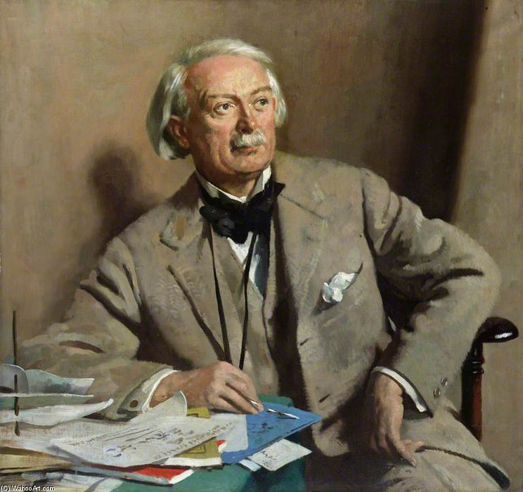 david lloyd Jorge , 1st Conde Lloyd-george de William Newenham Montague Orpen (1878-1931, Ireland) | Copia De La Pintura | WahooArt.com