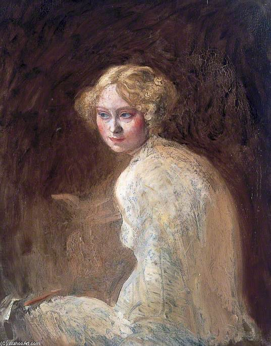 cabeza de un chica de William Newenham Montague Orpen (1878-1931, Ireland)