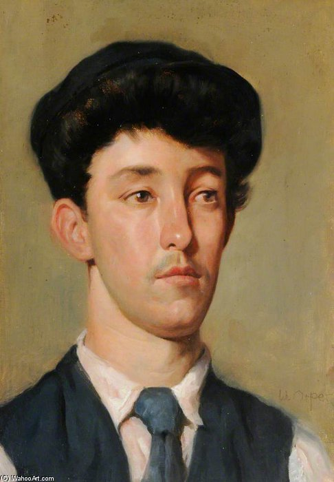 retrato de un juventud de William Newenham Montague Orpen (1878-1931, Ireland)