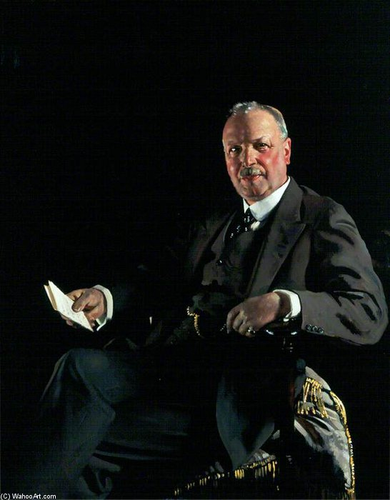 Señor thomas jaffrey , Bt , Lld , Presidente de aberdeen art galería Comité de William Newenham Montague Orpen (1878-1931, Ireland)