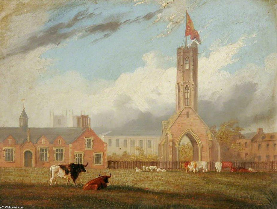 Greyfriars Tower, Norfolk de Thomas Baines (1820-1875, United Kingdom)