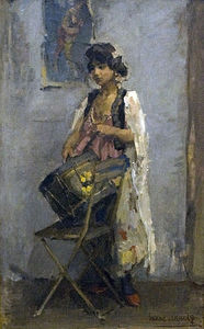 Isaac Lazarus Israels - Trommelslaagster -