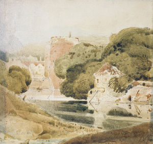 John Sell Cotman - Un pantalla  de Norwich  Cathedral_2