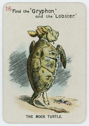 La Falsa Tortuga de John Tenniel (1820-1914, United Kingdom)