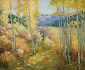 Joseph Henry Sharp - Taos Bosque -