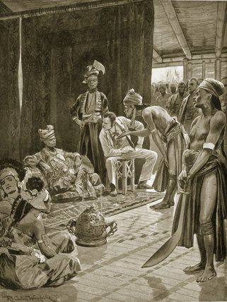 Sir James Brooke En Borneo de Richard Caton De Woodville (1856-1927, United States)