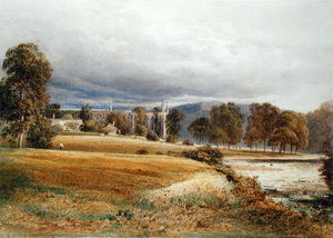 Anthony Vandyke Copley Fielding - Bolton Abbey desde el río Wharfe, South View