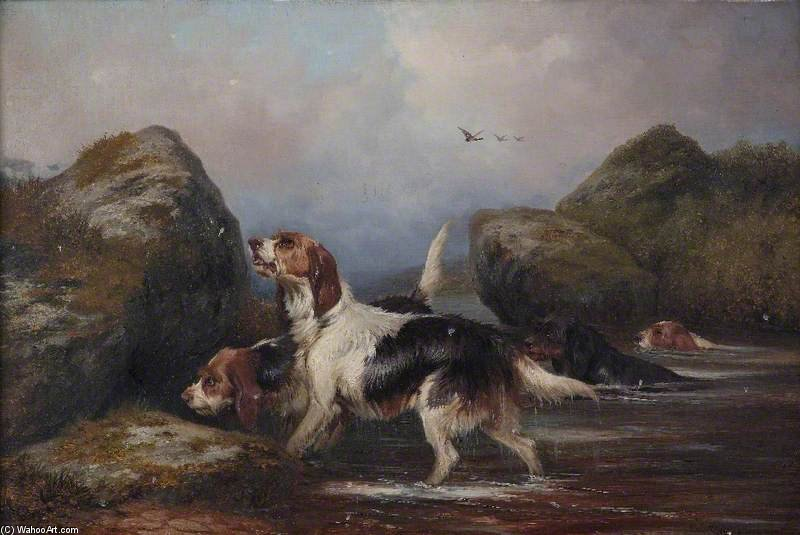 perros de Colin Graeme Roe (1858-1910, United Kingdom)