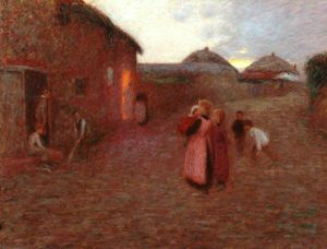 Edward William Stott - a pueblo calle