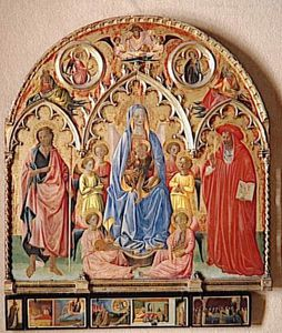 Francesco D'antonio Da Viterbo - Retablo rinieri francesco Re Antonio