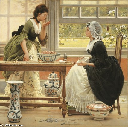 Pot-pourri de George Dunlop Leslie (1835-1921, United Kingdom)