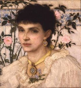 George Henry Boughton - retrato de mrs . Jorge Enrique Boughton -