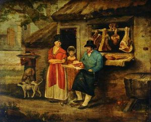 George Morland - The Village Carnicero