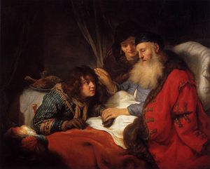 Govert Teunisz Flinck - Isaac bendice a Jacob