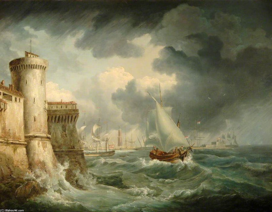 Envío Off Génova de John Thomas Serres (1759-1825, United Kingdom)