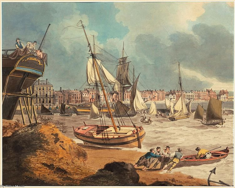 el puerto a Weymouth de John Thomas Serres (1759-1825, United Kingdom)