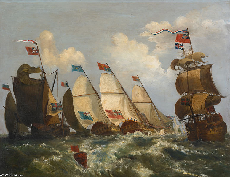 Regata de Nicholas Pocock (1740-1821, United Kingdom)