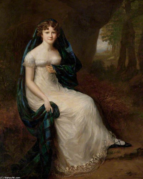 Elizabeth Brodie, esposa del quinto Duke Of Gordon de Alfred Edward Chalon (1780-1860, Switzerland)