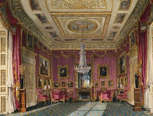 Charles Wild - Carlton House, Rose Satén Drawing Room