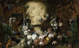 Pieter The Younger Holsteyn - Guirnalda de flores