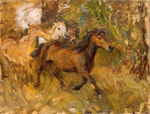 Alfred James Munnings - Cruzando El Ford