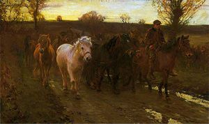 Alfred James Munnings - viajeros