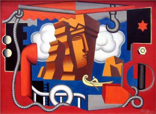 composición allégorique de Jean Dominique Antony Metzinger (1883-1956, France)