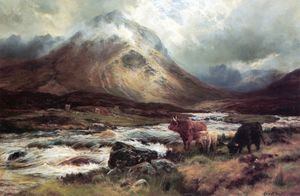 Louis Bosworth Hurt - Un Avalancha en glen sligachan , Skye