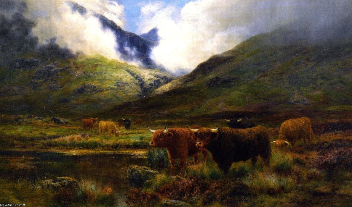 Clachaig, Clencoe de Louis Bosworth Hurt (1856-1929, United Kingdom)