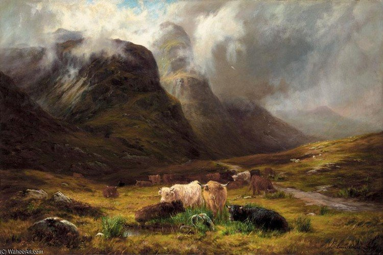 En Glencoe de Louis Bosworth Hurt (1856-1929, United Kingdom)