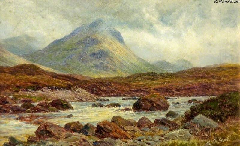 Marscow, Glen Sligachan, Skye de Louis Bosworth Hurt (1856-1929, United Kingdom) | Arte De La Reproducción | WahooArt.com