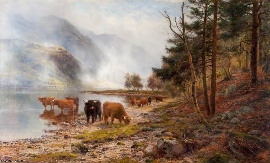 Nieblas Rising, Loch Eck de Louis Bosworth Hurt (1856-1929, United Kingdom) | WahooArt.com