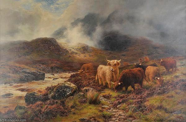 West Highlanders de Louis Bosworth Hurt (1856-1929, United Kingdom)