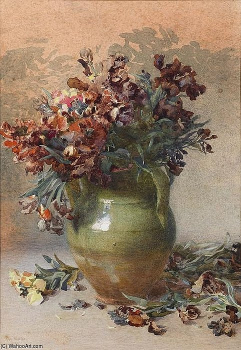 Wallflowers de Rose Maynard Barton (1856-1930, Ireland)