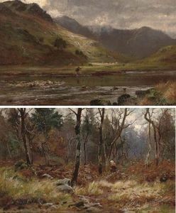 Louis Bosworth Hurt - Un pescador En Glen Shiel, Ross-shire
