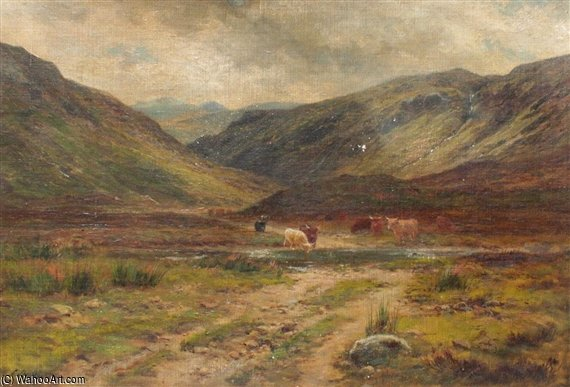 Glen Logan, Kinlochewe de Louis Bosworth Hurt (1856-1929, United Kingdom)