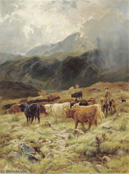 On The Loch Maree, Ross-shire de Louis Bosworth Hurt (1856-1929, United Kingdom)
