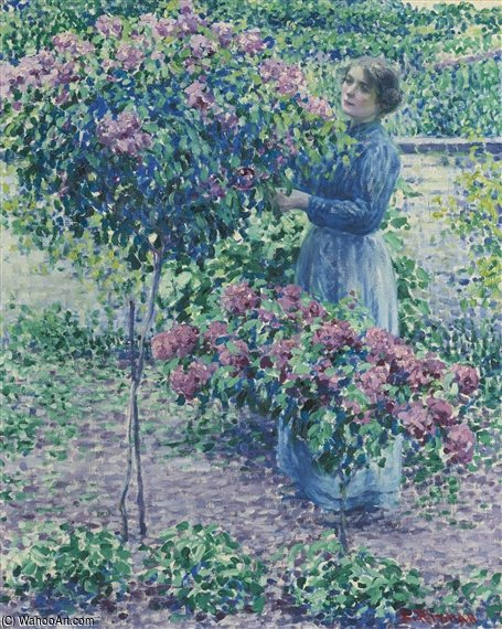En The Arbor de Louis Ritman (1889-1963, Russia)
