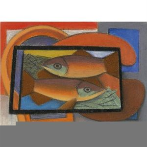 Mark Gertler - estudio para pescado in vidrio caso