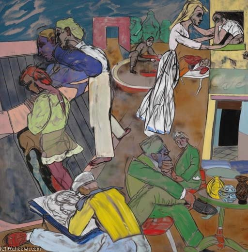 Greenwich Pueblo de Ronald Brooks Kitaj (1932-2007, United States)