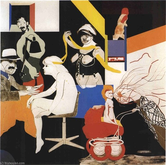 La Pandilla de Ohio de Ronald Brooks Kitaj (1932-2007, United States)