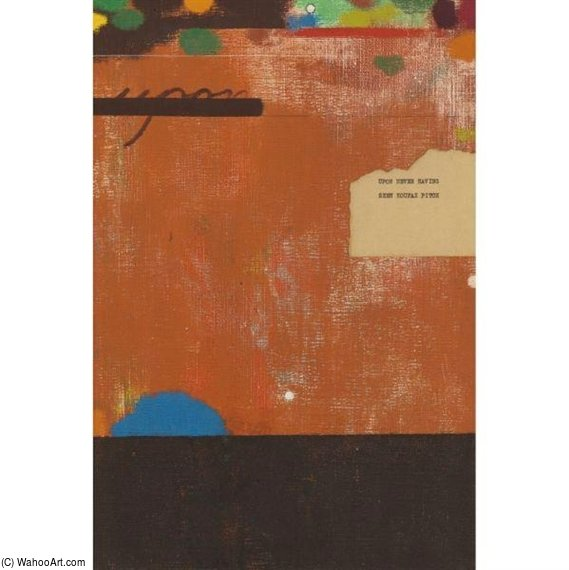 Al no haber visto nunca Koufax Pitch de Ronald Brooks Kitaj (1932-2007, United States)