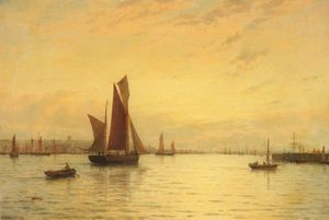 George Stanfield Walters - Barcos de pesca Off Gorleston