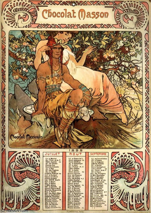 chocolat masson de Alfons Maria Mucha (1860-1939, Czech Republic)