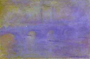 Claude Monet - el puente de waterloo. la neblina